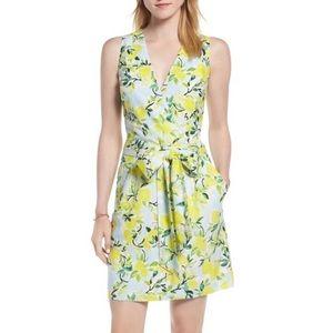 Anthropologie 1901 lemon print dress XL